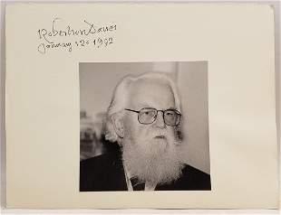 Robertson Davies , 1992: Signed Photo Portrait