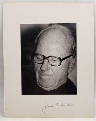 James A. Michener : Signed Photo Portrait