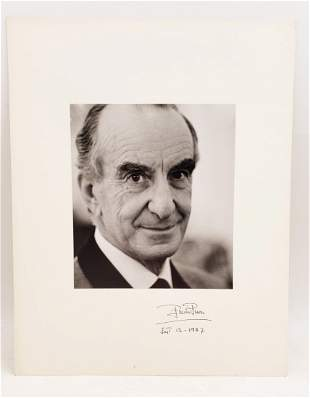 Emillio Pucci , 1987 : Signed Photo Portrait