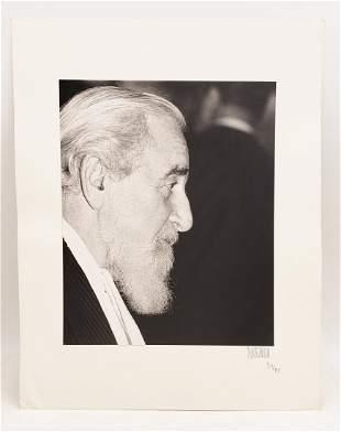 Al Hirschfeld : Signed Photo Portrait