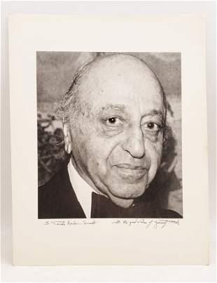 Yousuf Karsh, 1988 : Signed Photo Portrait