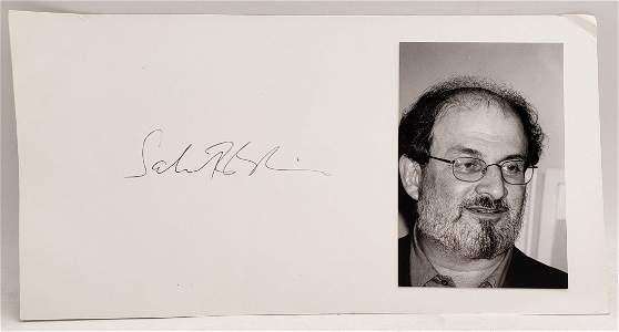 Salman Rushdie : Signed Photo Portrait