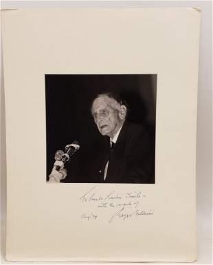 Roger Nash Baldwin, 1979 : Signed Photo Portrait