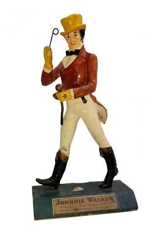 Vintage Wooden Johnnie Walker Figure Display