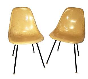 Eames Shell Chairs by Herman Miller - Cream DSH