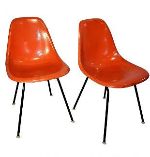 Eames Shell Chairs by Herman Miller - Orange DSH