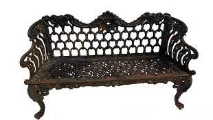 Antique Cast Iron Garden Bench - Mexico