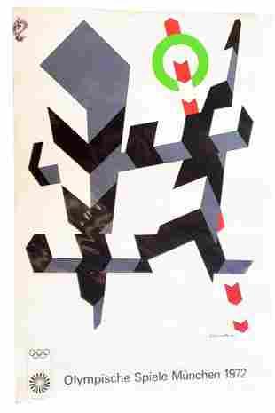 1972 Munich Olympics Poster: D