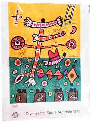 1972 Munich Olympics Poster by Alan Davie