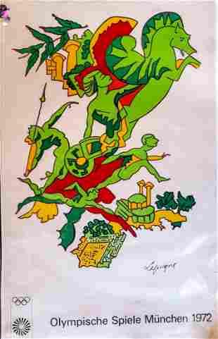 1972 Munich Olympics Poster : Charles Lapicque