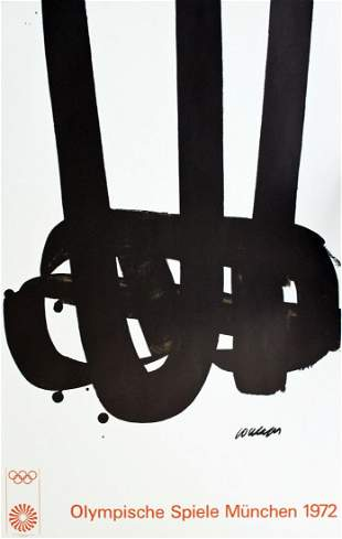 1972 Munich Olympics Poster by Pierre Soulages