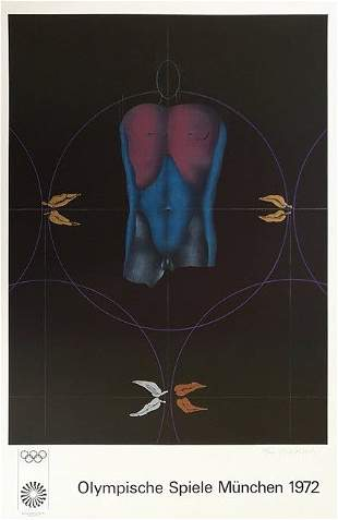 1972 Munich Olympics Poster by Paul Wunderlich