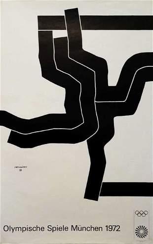 1972 Munich Olympics Poster by Eduardo Chillida