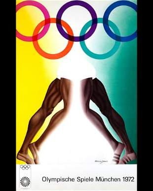 1972 Munich Olympics Poster: Allan Jones ( b.1937)