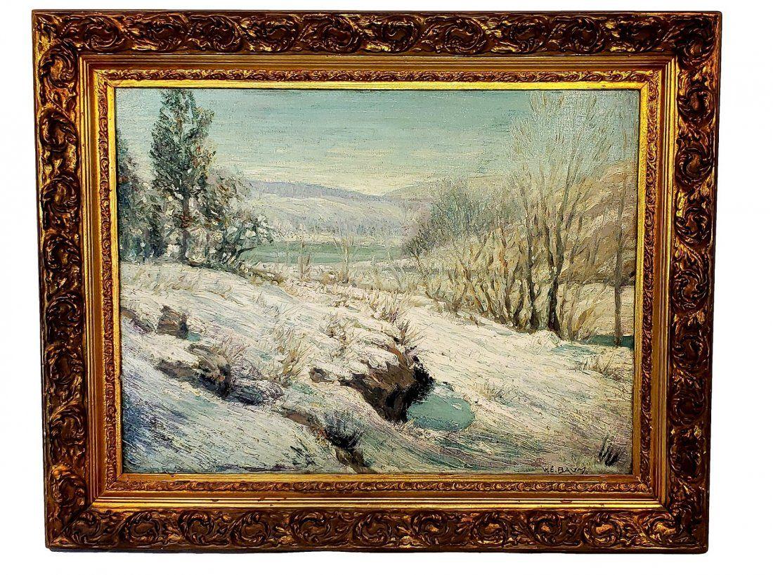 W E Baum : Winter Mountainscape OOB