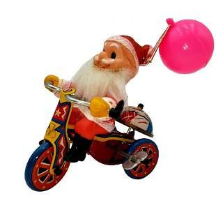 Tin Litho Santa Wind Up - Korea Mid Century Toy