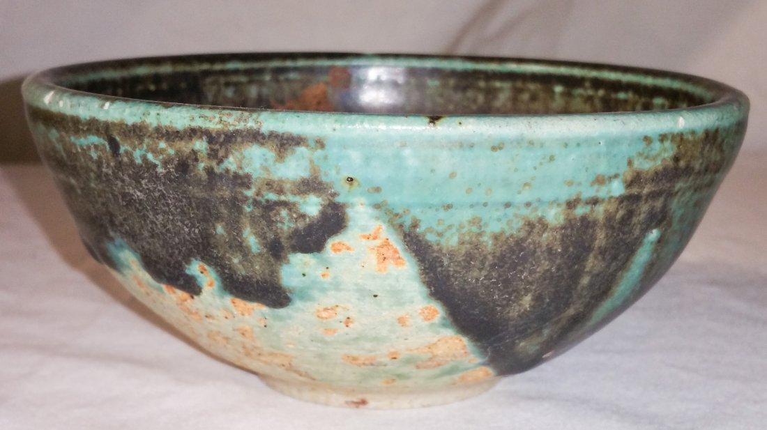 Mid Century Glazed Stoneware Bowl
