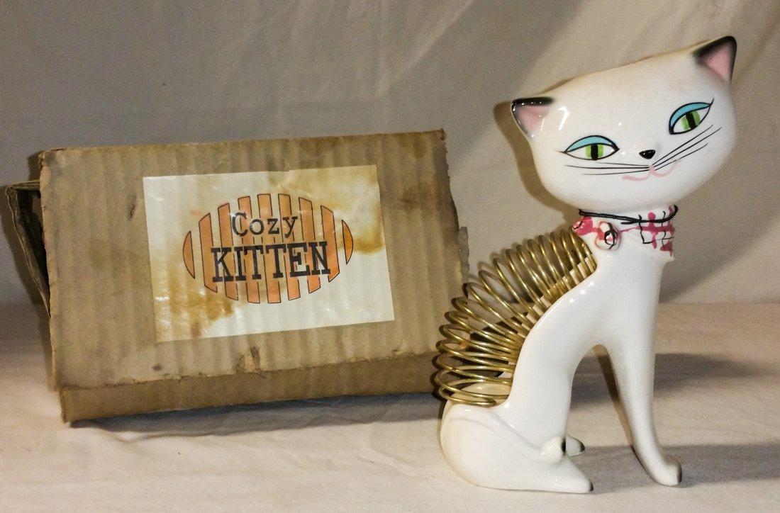 NIB 1958 Holt Howard Cozy Kitten Cat Desk Caddy