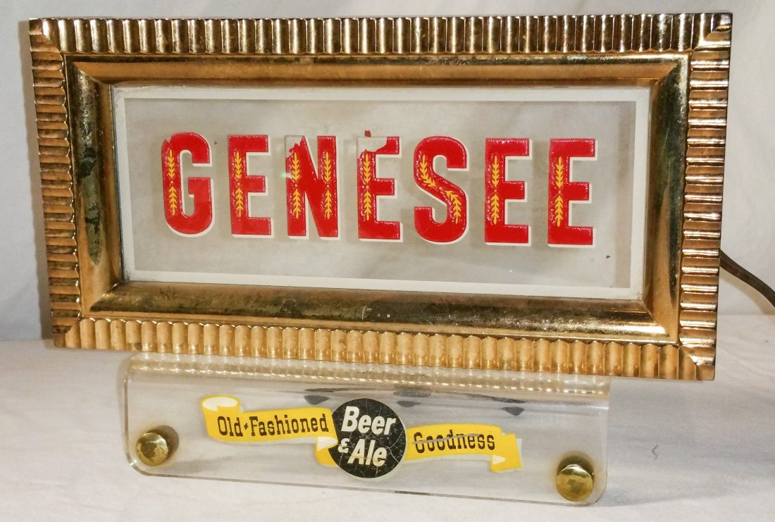 Genesee Brewing Counter Light Up Sign