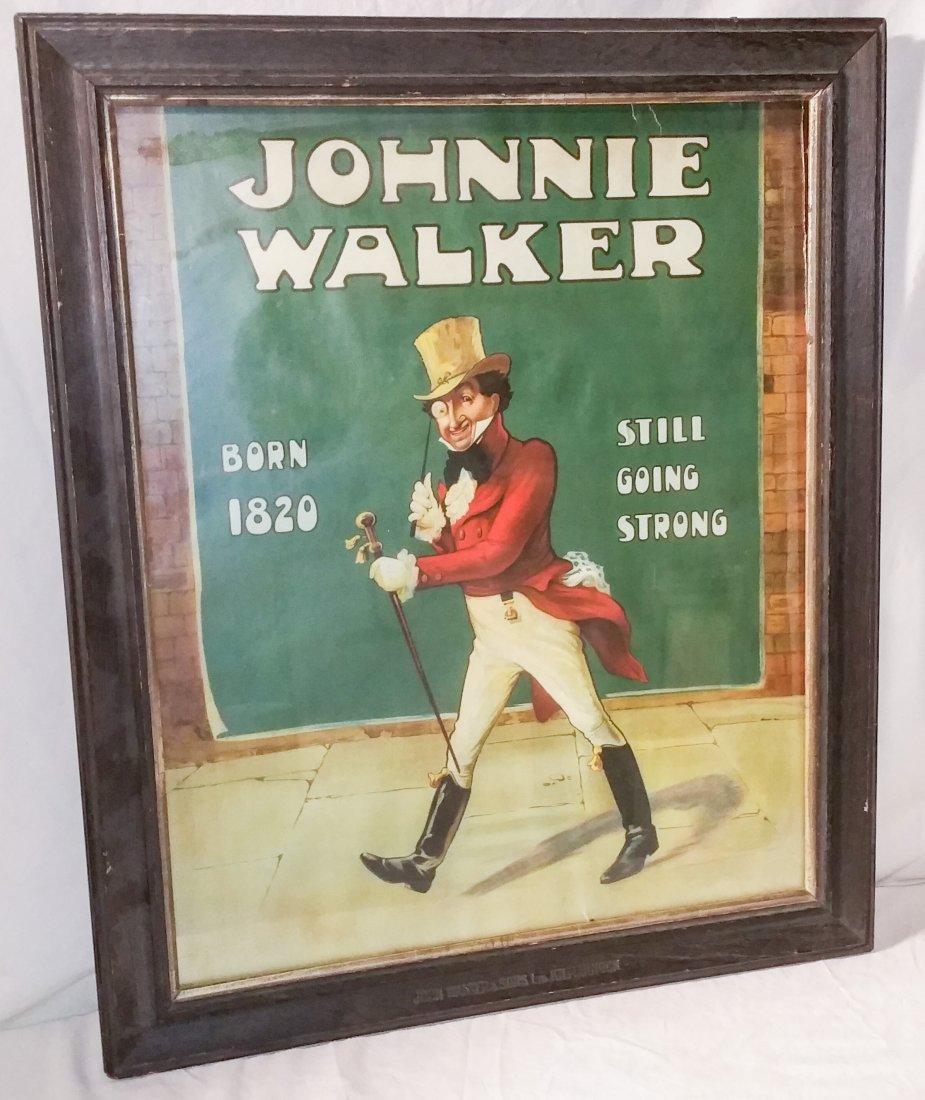 Vintage Johnny Walker Poster in Original Marked