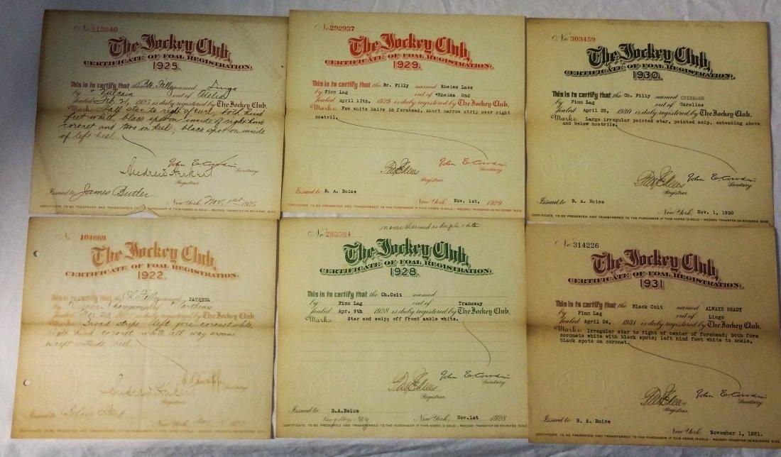 Early Jockey Club Registrations