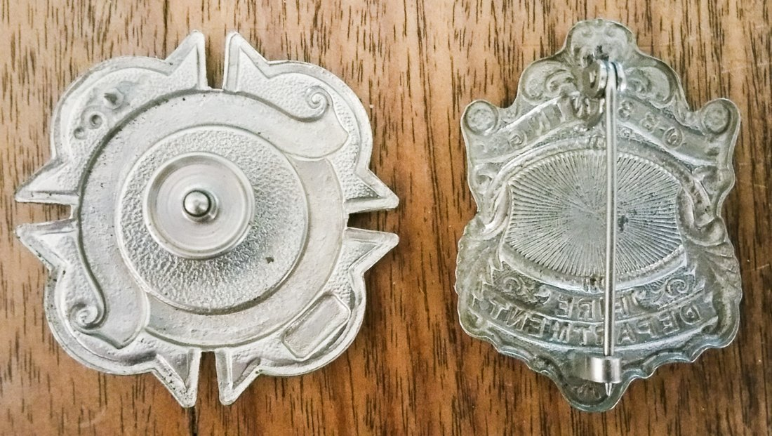 LOT 2. OSSINING NY FIRE DEPARTMENT BADGES - 2