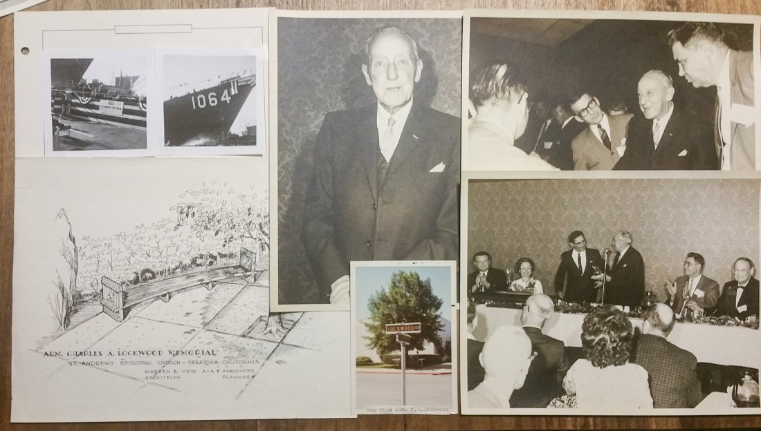 ADMIRAL CHARLES LOCKWOOD / USS LOCKWOOD COLLECTION - 6