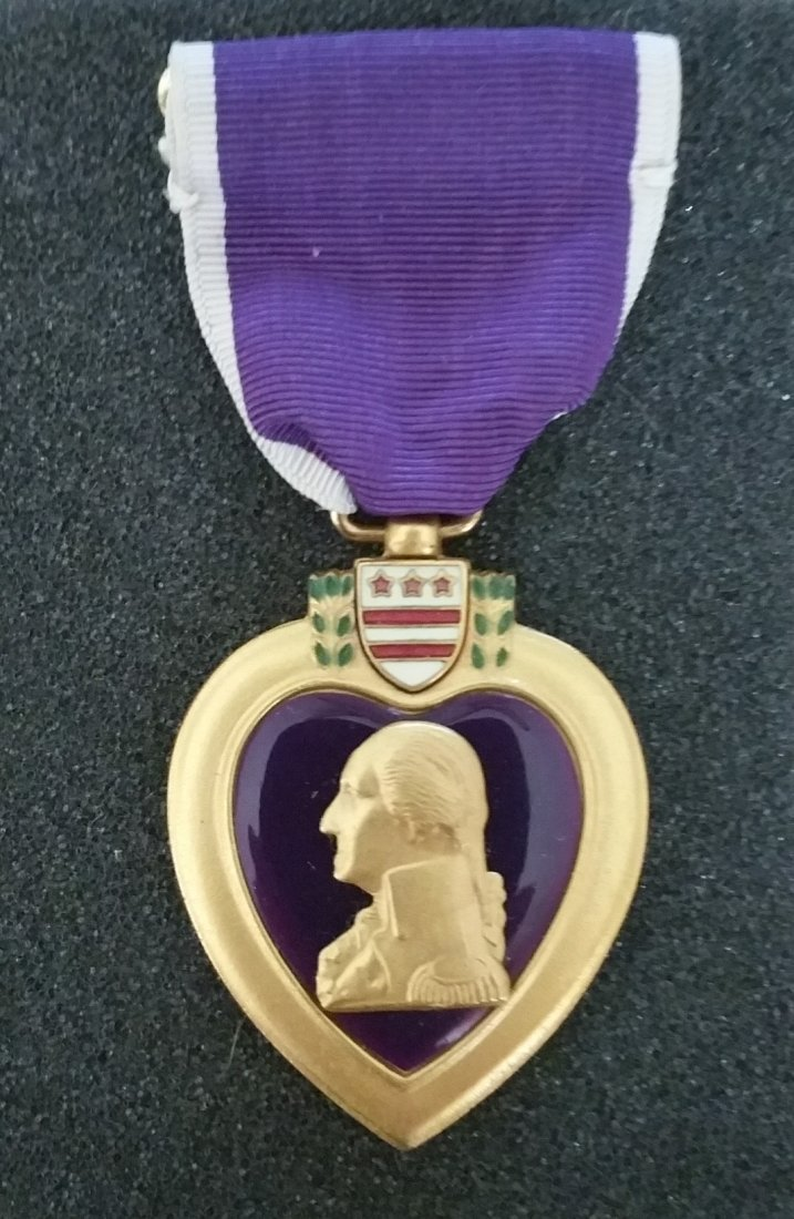 1945 PURPLE HEART WITH FULL DOCUMENTATION, TRUMAN