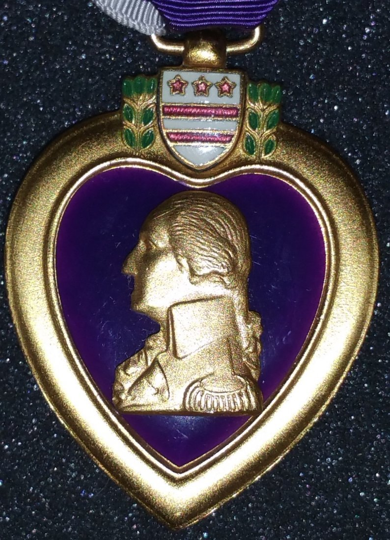 1945 PURPLE HEART WITH FULL DOCUMENTATION, TRUMAN - 3