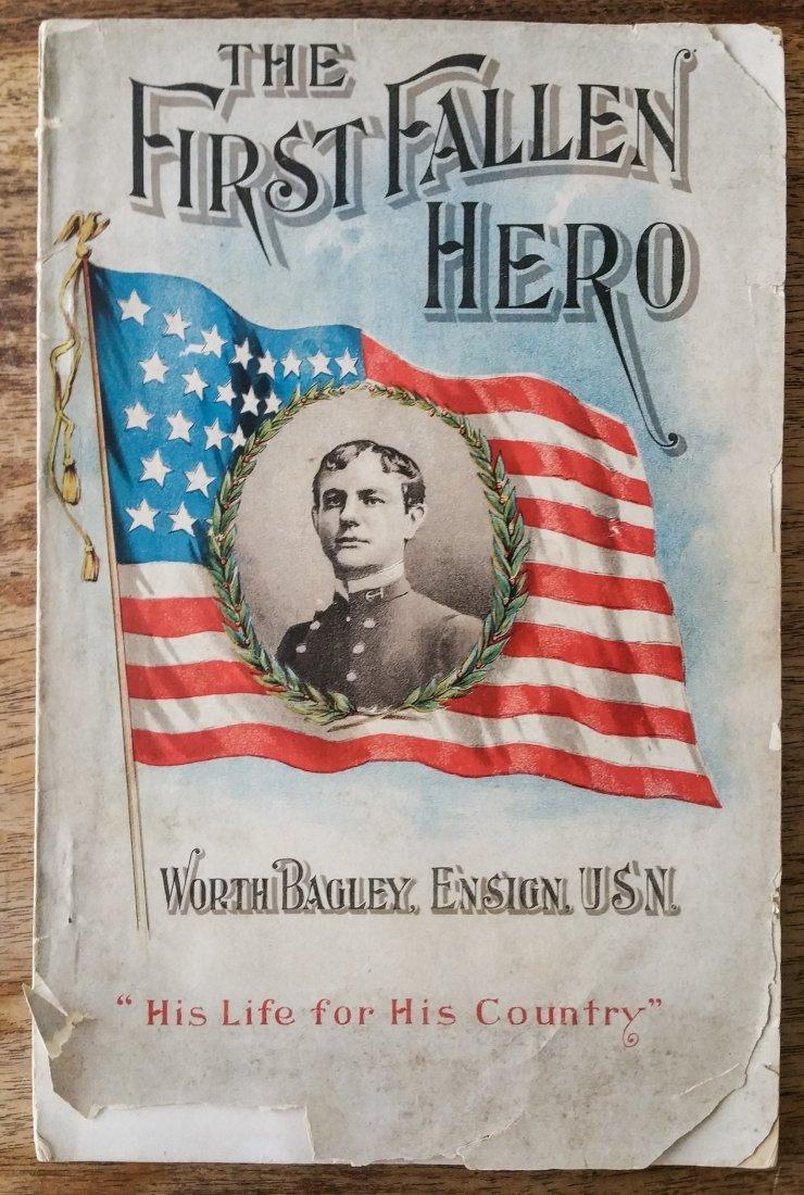 1898 FIRST EDITION THE FIRST FALLEN HERO SAM W. BOWMAN
