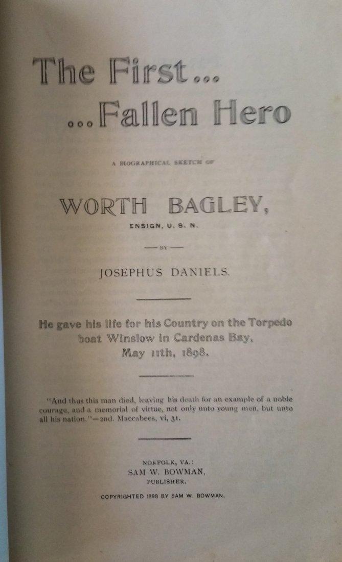 1898 FIRST EDITION THE FIRST FALLEN HERO SAM W. BOWMAN - 4