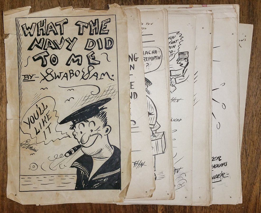 """""""WHAT THE NAVY DID TO ME"""" BY SWABO SAM HAND DRAWN BOOK"""