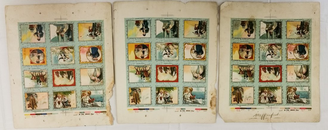 1910 PRINTERS PROOF TURKISH TROPHIES CIGARETTE CARDS - 2
