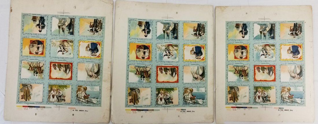1910 PRINTERS PROOF TURKISH TROPHIES CIGARETTE CARDS - 4