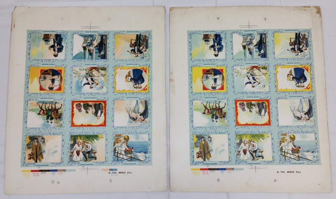 1910 PRINTERS PROOF TURKISH TROPHIES CIGARETTE CARDS - 5