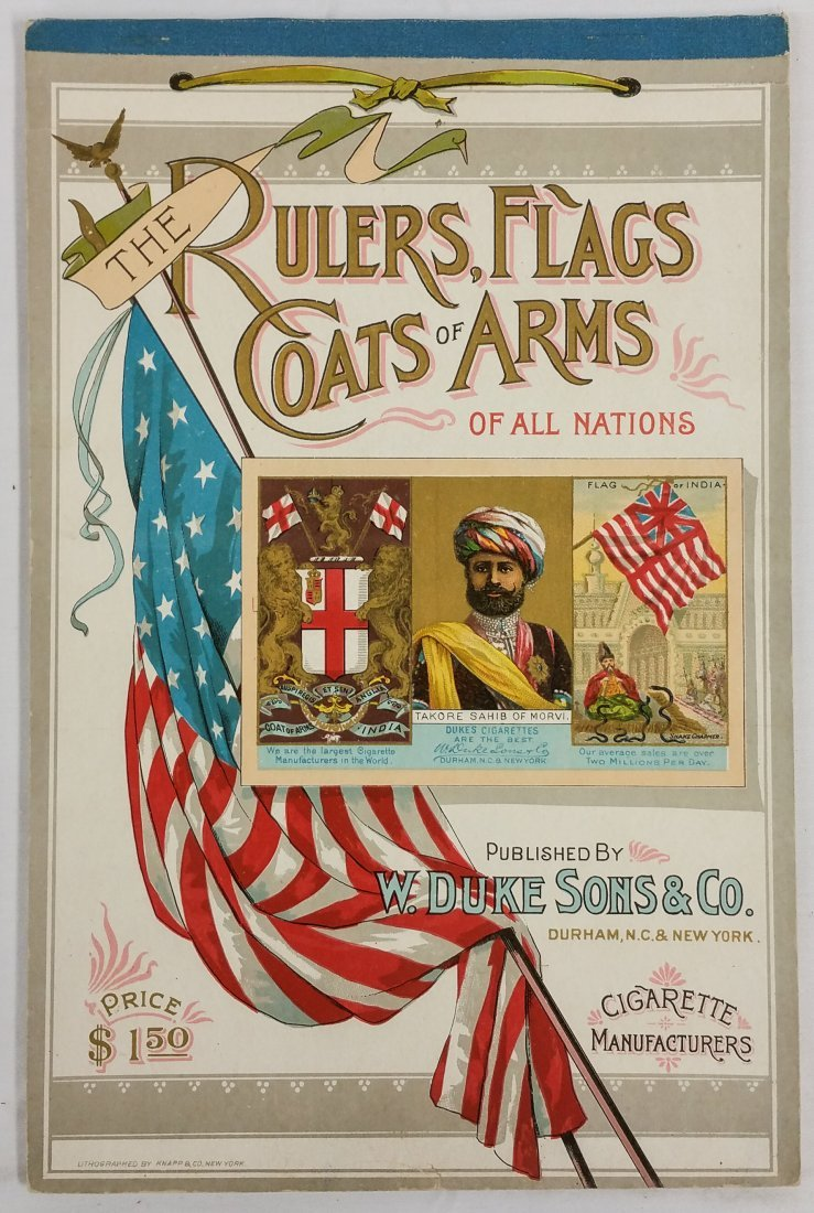 W. DUKE SONS & CO. THE RULERS, FLAGS, COATS OF ARMS