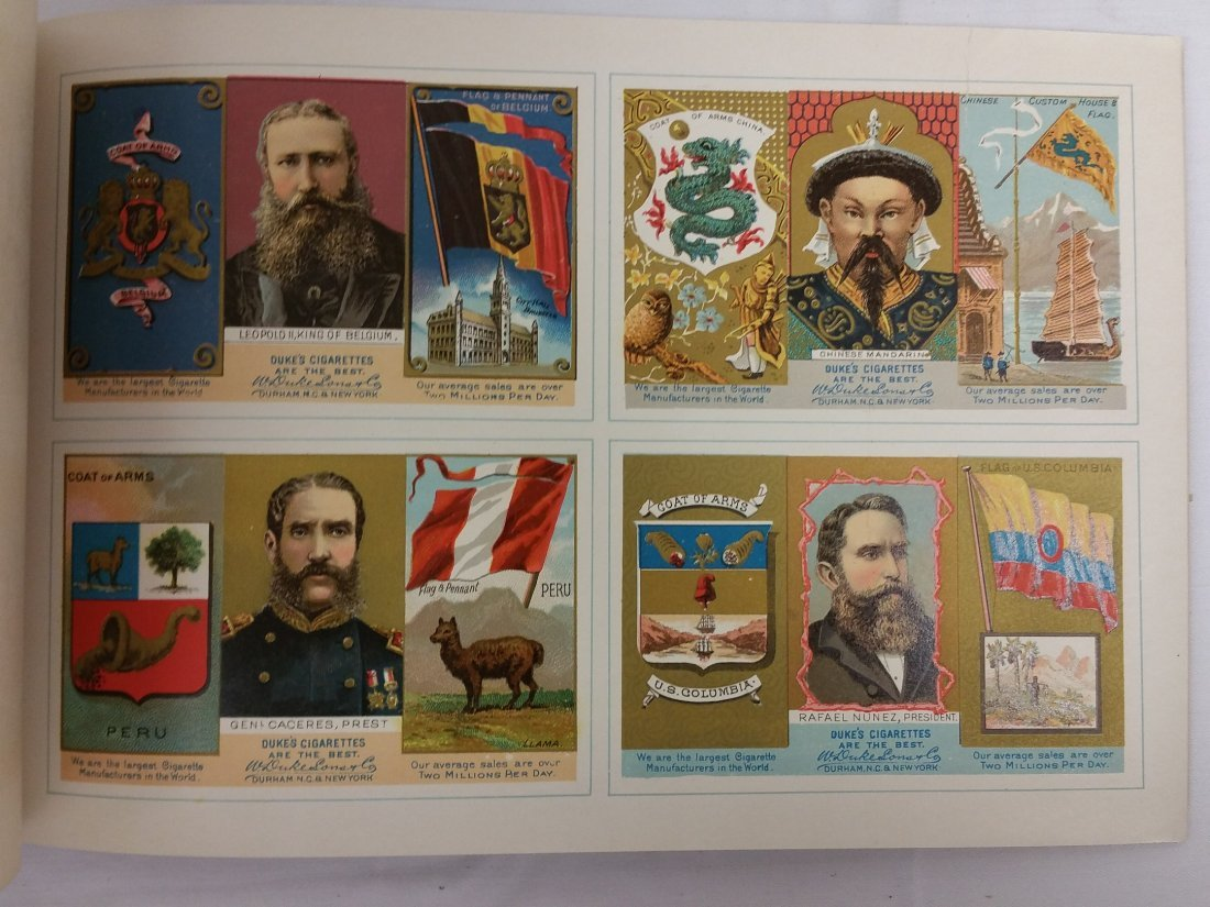 W. DUKE SONS & CO. THE RULERS, FLAGS, COATS OF ARMS - 6