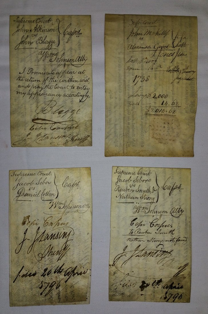 1700'S ASSORTED WRITS YATES NY