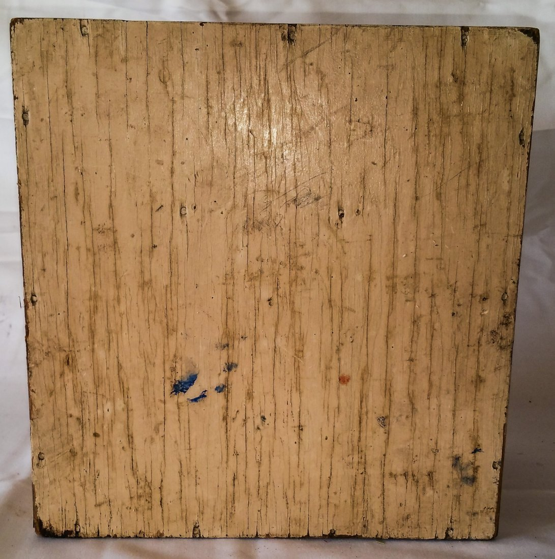 VINTAGE WOOD FIRST AID WALL BOX - 4