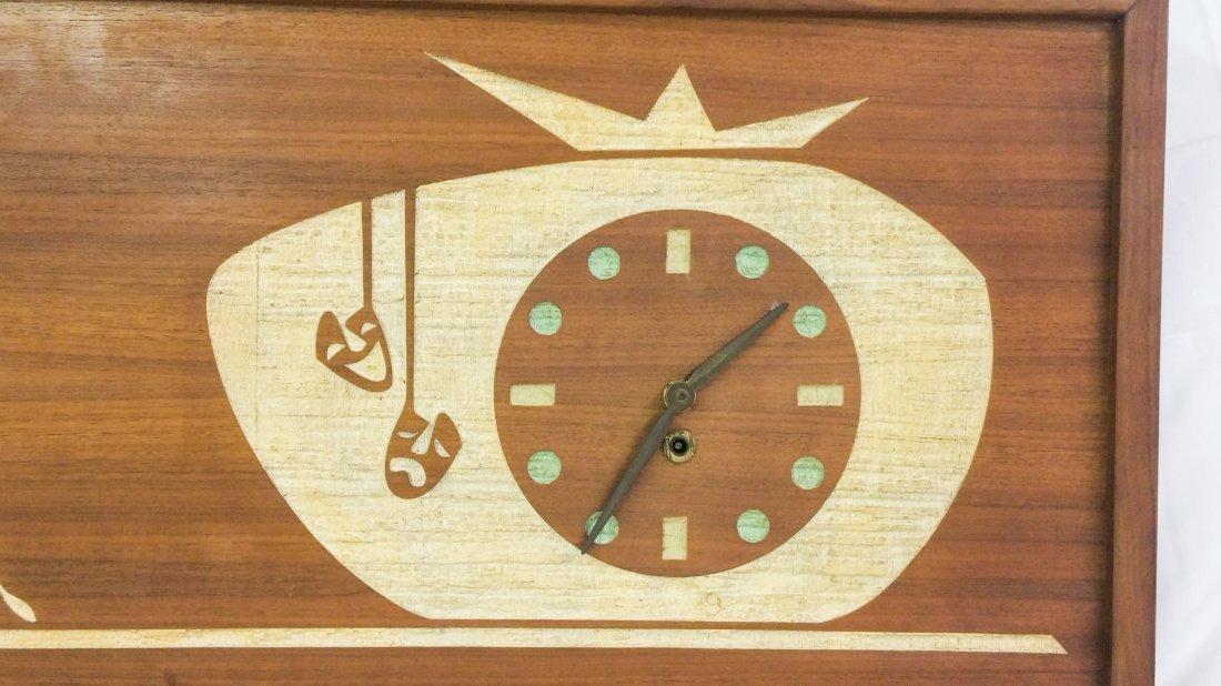TRUE MID-CENTURY MODERN WOOD WALL CLOCK - 2