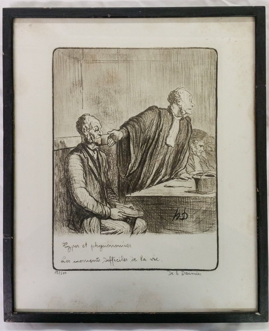 LIMITED EDITION ARTIST SIGNED PRINT BY DAUMIER