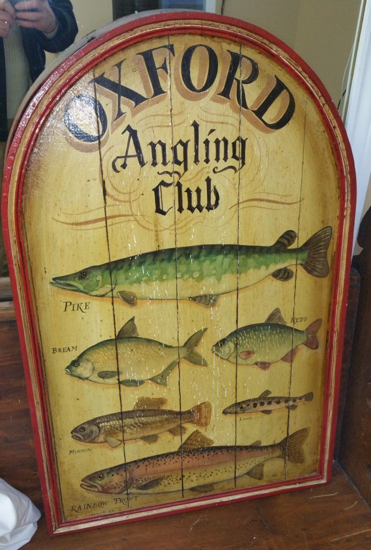 WOOD FISHING SIGN
