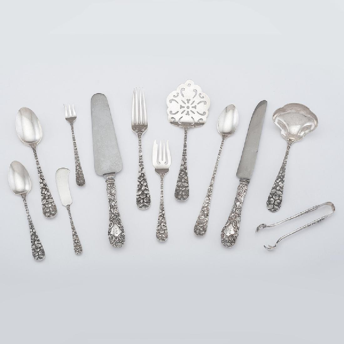 Schofield Sterling Silver Flatware, Baltimore Rose