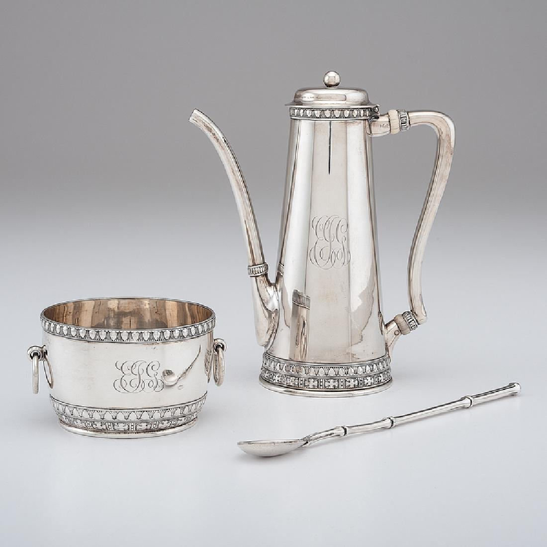 Tiffany & Co. Sterling Demitasse Pot and Sugar, Plus