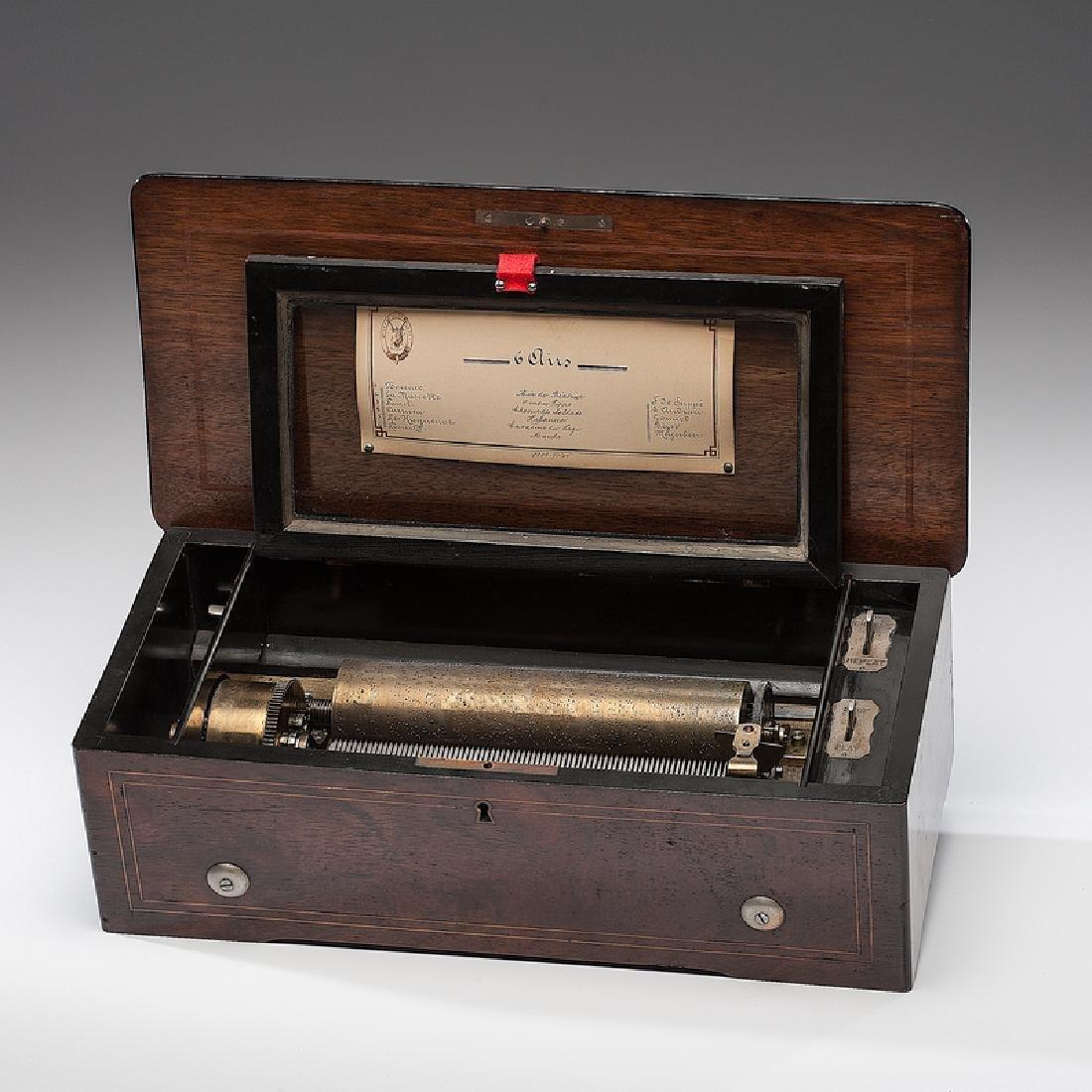 F. Conchon Six-Tune Cylinder Music Box