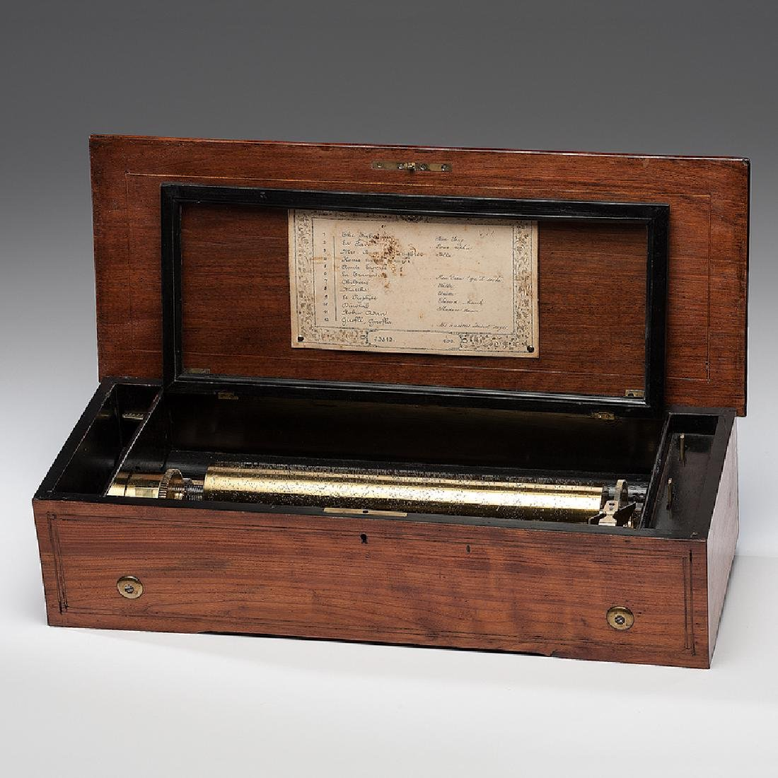 Fabrique De Geneve Twelve-Tune Cylinder Music Box