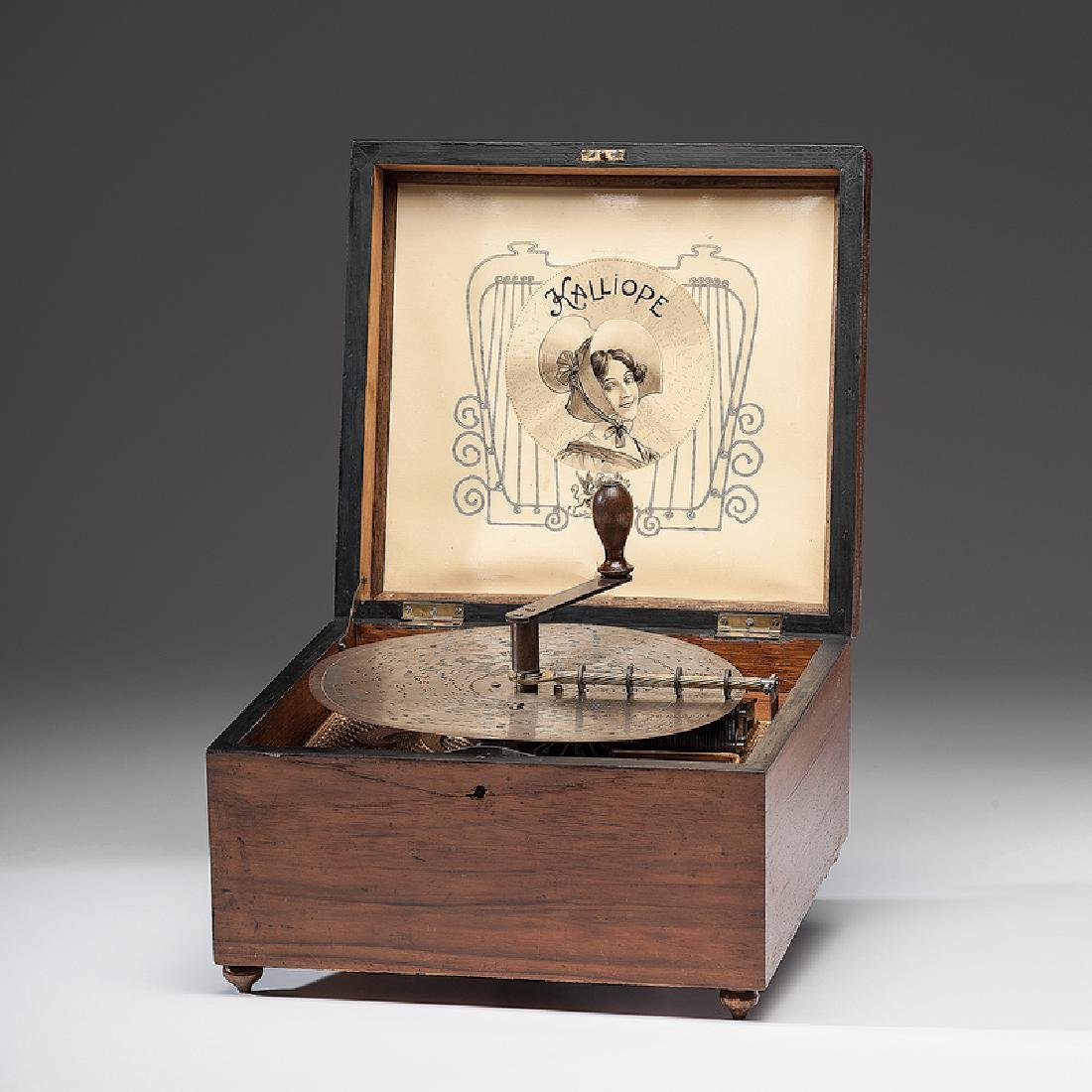 Kalliope 9.125 Inch Disc Music Box with Six Bells