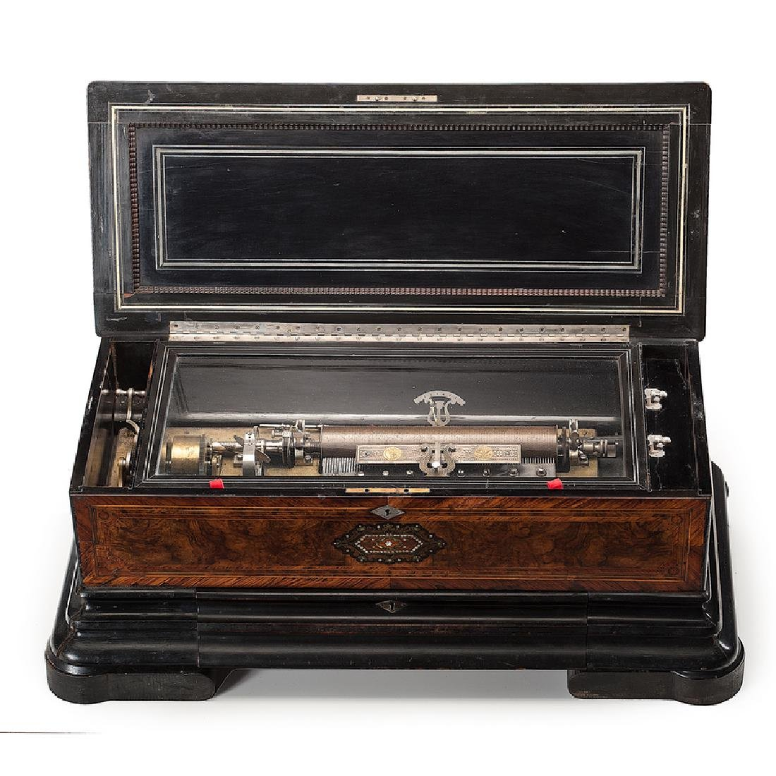 Swiss Music Box with Interchangeable Cylinders