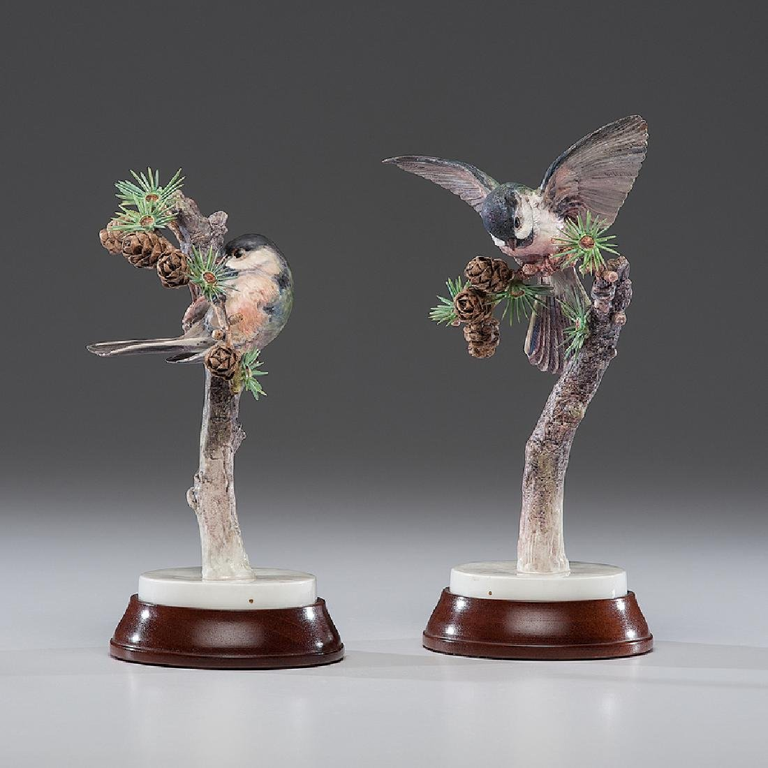 Royal Worcester Dorothy Doughty Chickadees