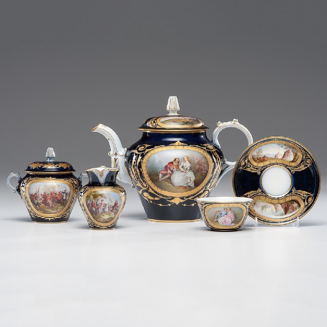Sevres-style Porcelain Tea Service